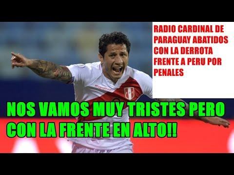 """#RADIO #CARDINAL PARAGUAY #ABATIDOS #PARAGUAY 3-4 #PERU """"NOS VAMOS TRISTES PERO CON LA FRENTE EN ALT"""