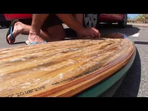 Hollow Bamboo Surfboard Construction