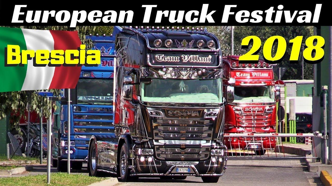 European Truck Festival 2018 Autoparco Brescia Est Italy Arrivo Camion Truck Convoy