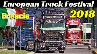 European Truck Festival 2018 - Autoparco Brescia Est, Italy - Arrivo Camion / Truck Convoy