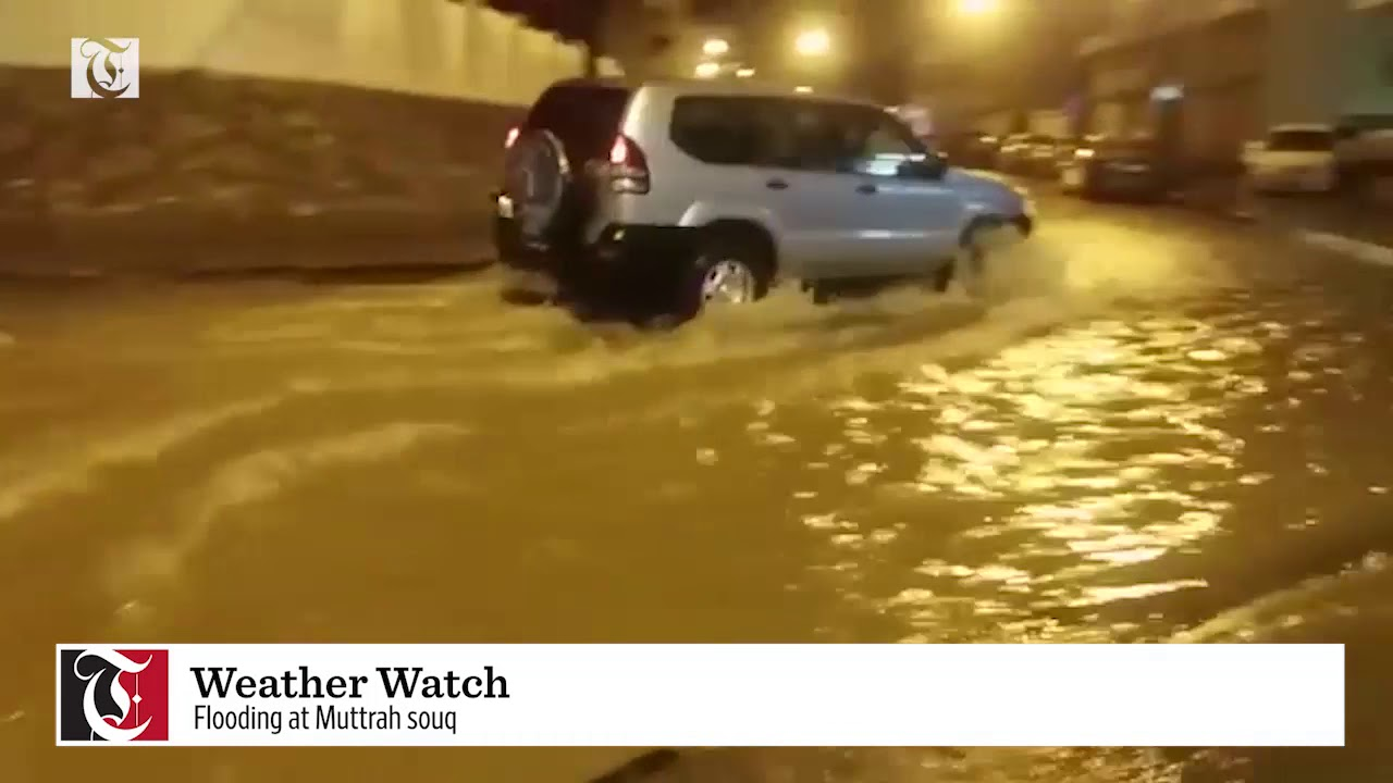 Weather Watch:  Flooding at Muttrah souq
