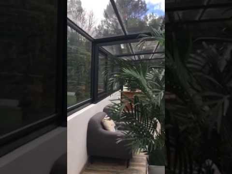 Aménagement d\'un abri de terrasse modèle ANDROMEDA d\'EspaceCover ...