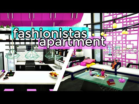 The Sims 4 | FASHIONISTAS APARTMENT - BAYVIEW APARTMENTS COLLAB | Speed Build