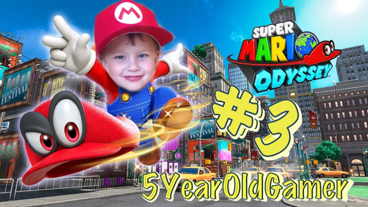 9dae525d453d 5 Year Old Gamer - Super Mario Odyssey - Nintendo Switch Gameplay Episode 3