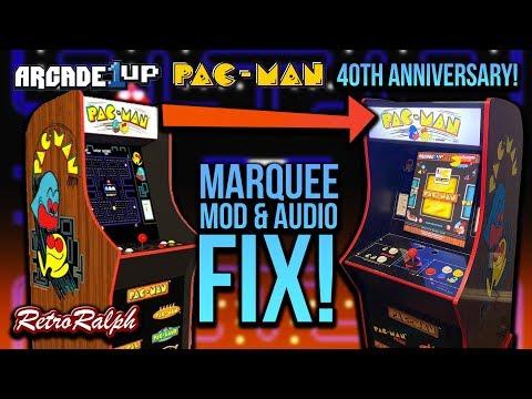 Arcade1up Pac Man 40th Marquee Mod & Audio Fix!