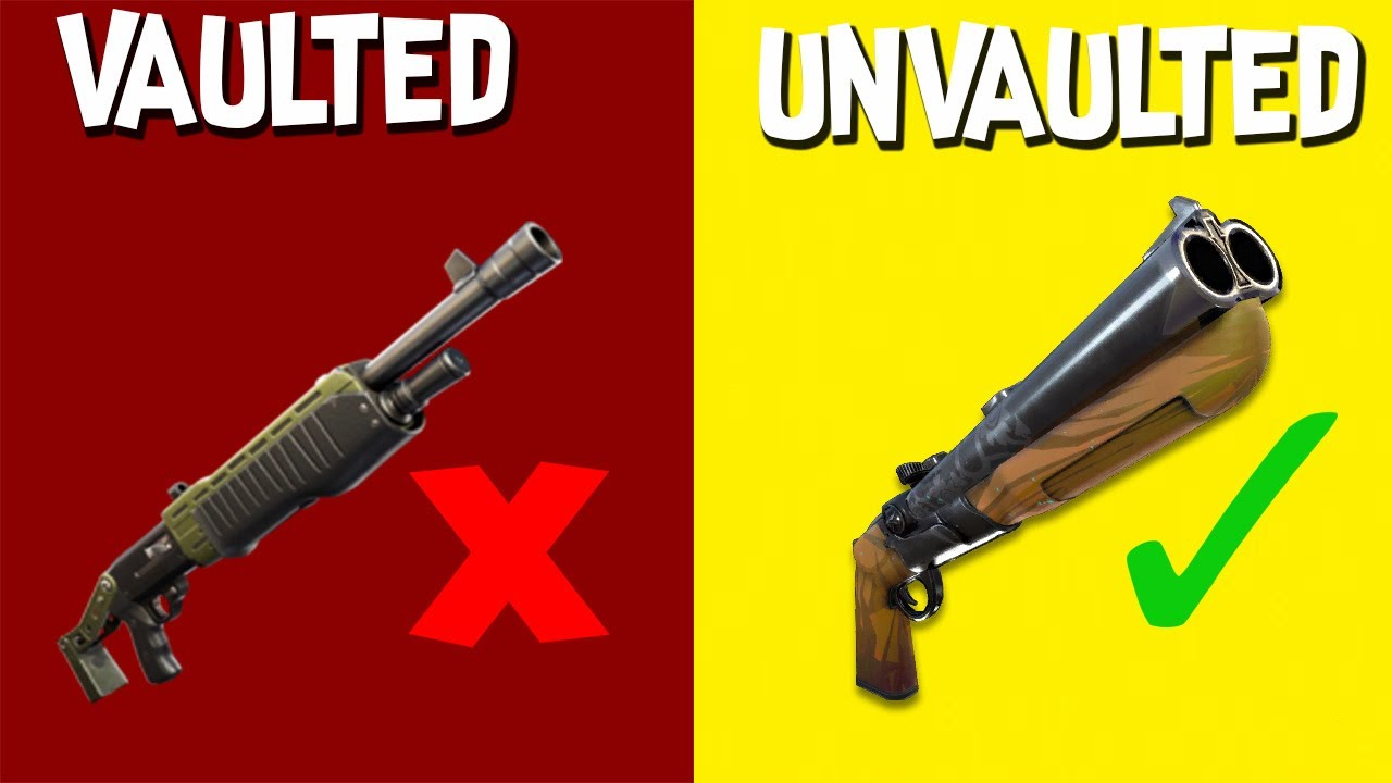 Fortnite Season 5: All Unvaulted and Vaulted Weapons