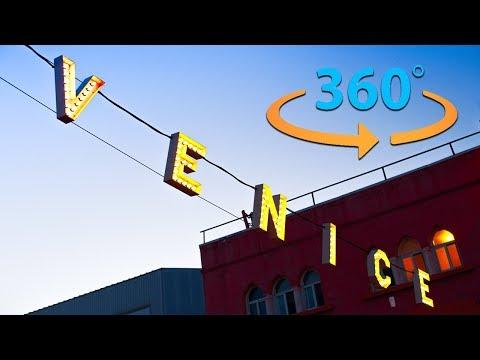 Venice Beach California Tour in 360    Virtual Reality Video (8K)