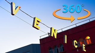 Venice Beach California Tour in 360    Virtual Reality Video (8K) thumbnail