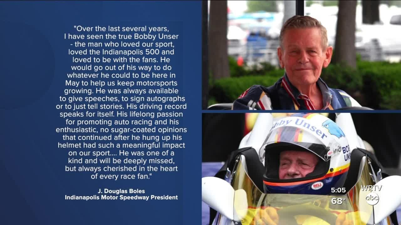 Three-Time Indy 500 Winner Bobby Unser dies at 87