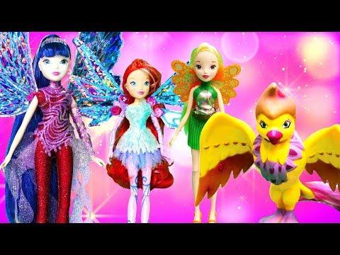 Игры для девочек — Куклы Винкс новые коллекции — Распаковка