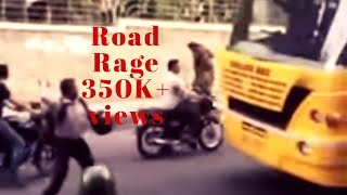 Bangalore street fight ( bus driver and biker )