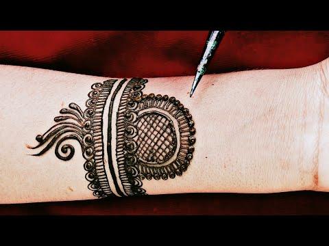 Attractive and full hand mehndi design  Arabic style mehndi designs  Full hand mehndi design  mehndi thumbnail