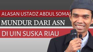 Alasan UAS Mundur dari PNS Sebagai Dosen UIN Suska Riau