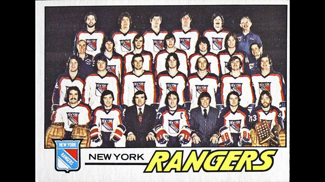 New York Rangers Vintage Hockey Cards