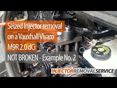 Hydraulically Removed Injector (Video 2) 2009 Nissan Primastar - Www.injector-removal-service.co.uk