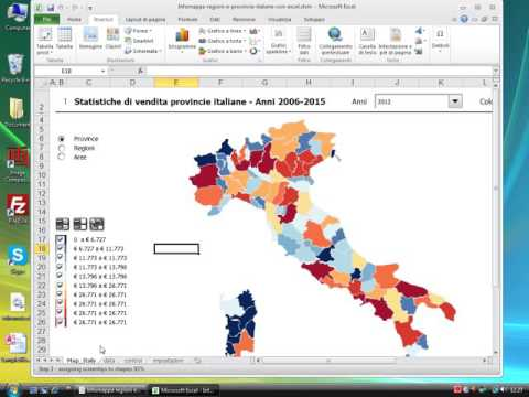 Info-mappa regioni e province italiane con Excel