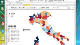 Cartina Mondo Excel.Info Mappa Regioni E Province Italiane Con Excel Youtube