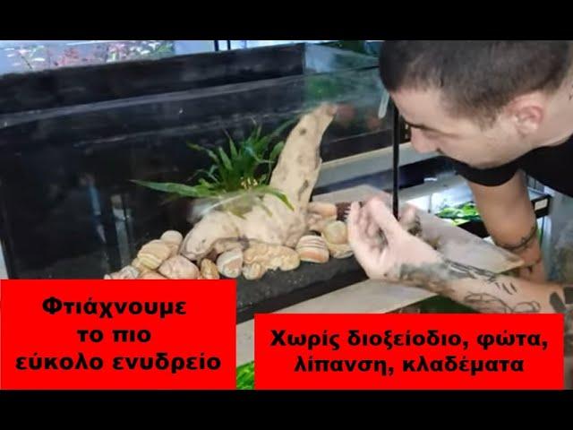 Το πιο ευκολο φυτεμένο ενυδρείο | AquaPlanters ep 10