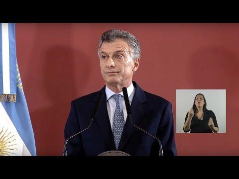 Conferencia de Mauricio Macri sobre pobreza