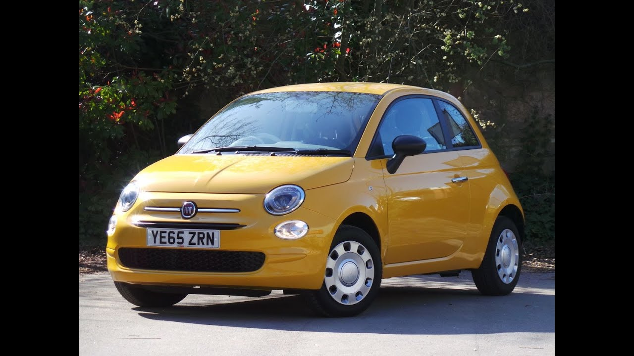 2016 65 fiat 500 1 2 pop 3dr in yellow youtube. Black Bedroom Furniture Sets. Home Design Ideas
