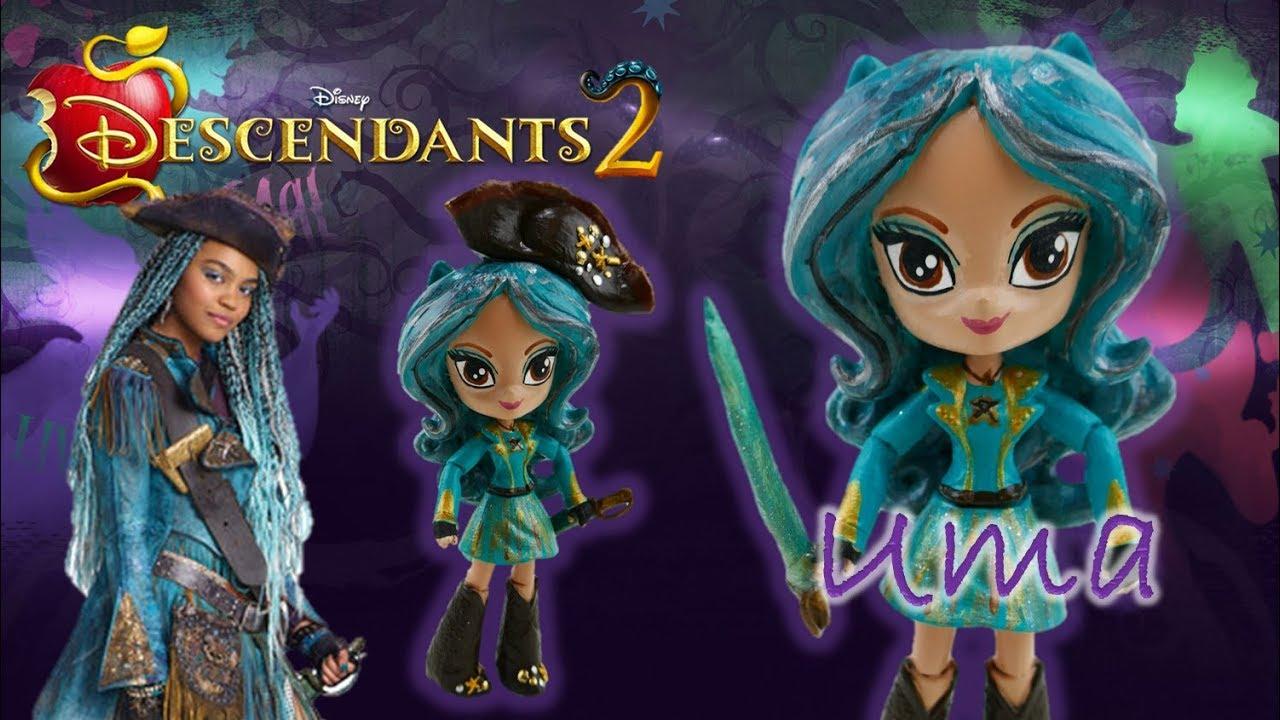 Disney Descendants 2 Movie Uma Doll Custom Toy Tutorial