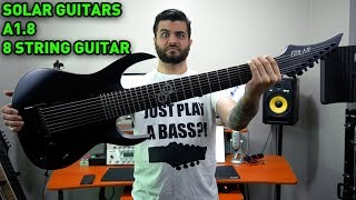 This Guitar is Thicc but Stealthy! Solar Guitars 8 String Guitar