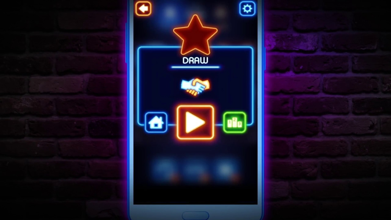 ??Tic Tac Toe Glow Promo ?Cool Android Brain & Puzzle game