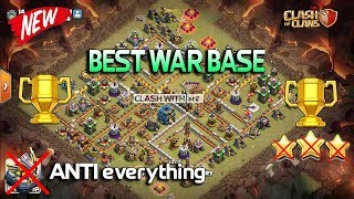 TOP WAR BASE!!! BEST WAR BASE EVER 2018 WITH REPLY ANTI 0 star / Anti 1 Star Clsh of Clans