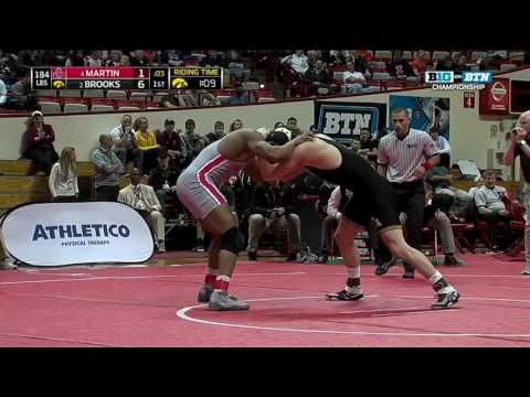 Brooks vs. Martin - 184 LBs - Big Ten Wrestling Championship