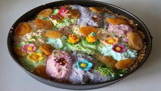 торт без выпечки  к 8 марта