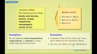 Grammar Video for Kids: Learning to Capitalize Titles