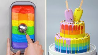 Easy & Quick Colorful Cake Decorating Ideas for Everyone | Amazing Cake Decorating Compilation