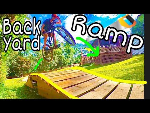Building a Backyard MTB Trail    Ramp Build