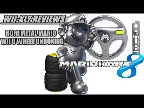 HORI METAL MARIO - Mario Kart 8 Wii U Wheel Unboxing