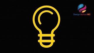 Lamp Bulb Logo Design illustrator - Adobe illustrator logo design tutorial for beginners