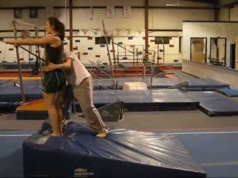 CASSY - First Backhandspring on Cheese Mat (with Tutorial