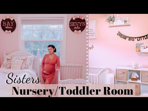 baby-girl-nursery-tour!-sisters-baby-&-toddler-shared-room!