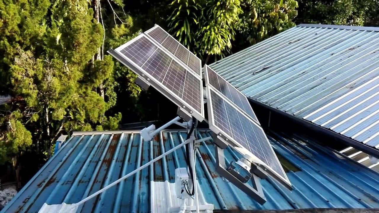 Diy Single Axis Solar Tracking System Youtube