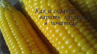 Как и сколько варить кукурузу в початках /Сама Я mk