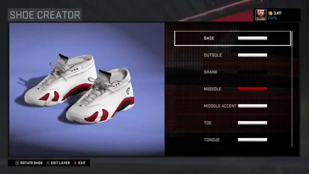 12ca90e50f9 NBA 2K16 Shoe Creator - Air Jordan 14 Low Custom