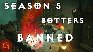 Diablo 3 Season 5 Botter Ban Wave Leader Boards BEFORE and AFTER