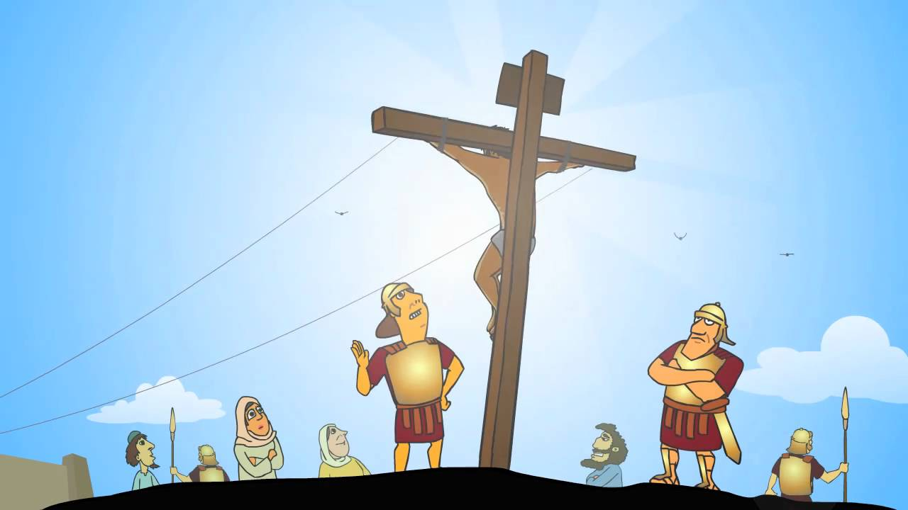 The Easter story animated 1/3 - Jesus is nailed to a cross ...