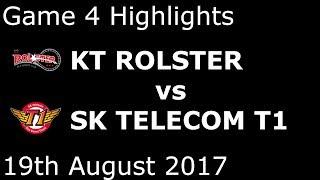 KT vs SKT Game 4 Highlights 2017 LCK PLAYOFFS SUMMER SPLIT