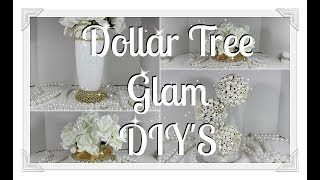 Dollar Tree Glam Gold DIY||  Vase Bowl and Orbs