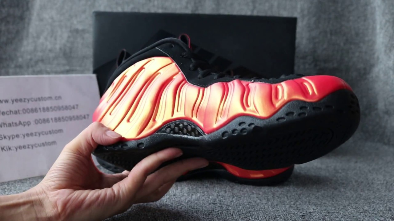 "51eb10ac48f2f Nike Air Foamposite One ""Habanero Red"" - YouTube"