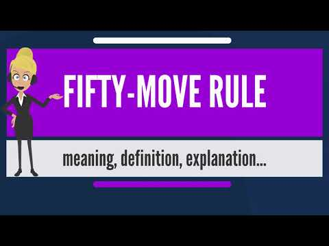 What is FIFTY-MOVE RULE? What does FIFTY-MOVE RULE mean? FIFTY-MOVE RULE meaning & explanation