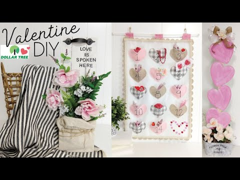 Dollar Tree Valentine DIY 2020 | Budget Friendly DIY's | Friend Friday HOP