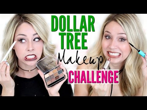 FULL FACE USING Dollar Tree Makeup CHALLENGE