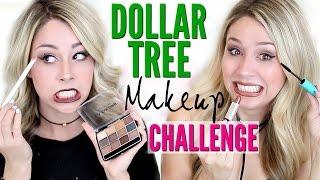 FULL FACE USING Dollar Tree Makeup CHALLENGE