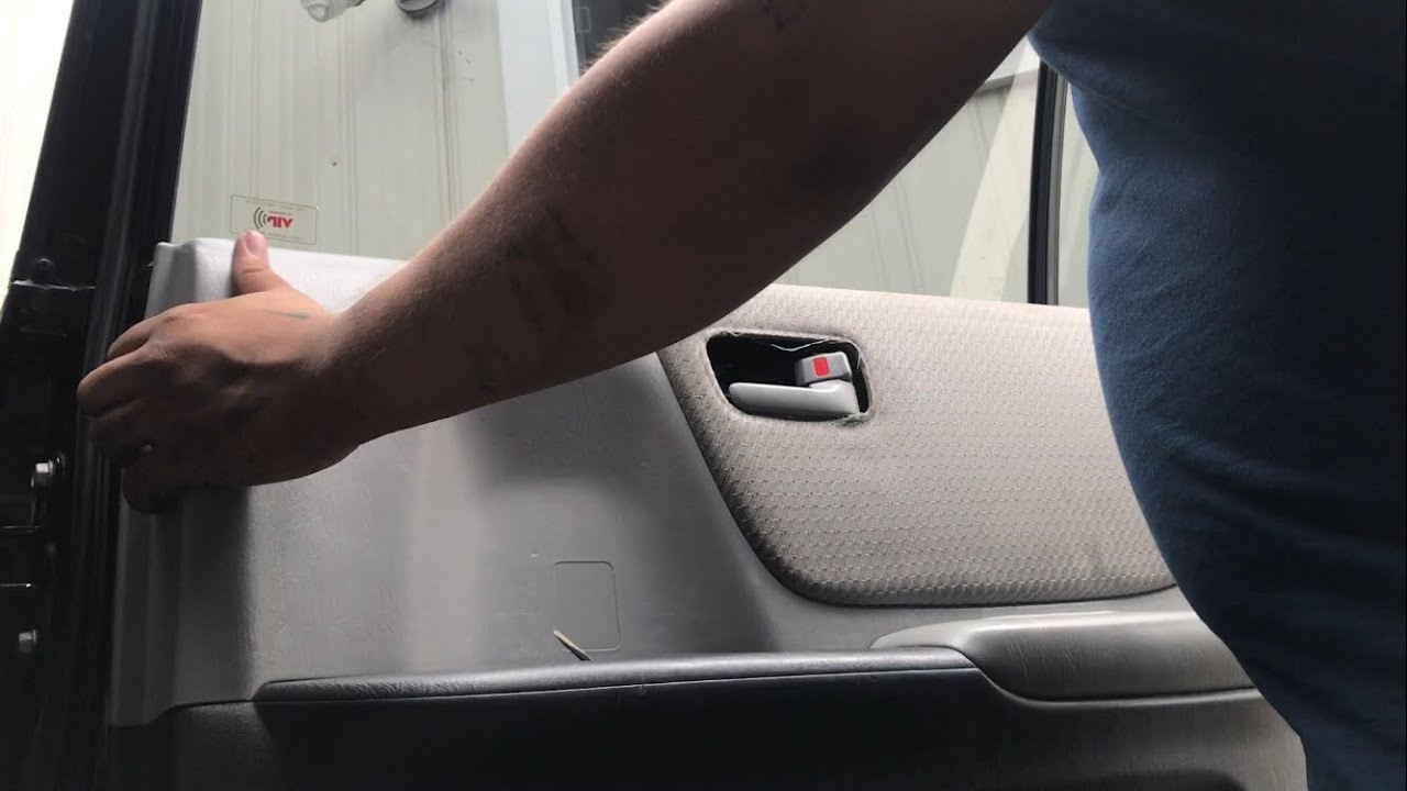 toyota highlander door panel removal and fixing window that fell
